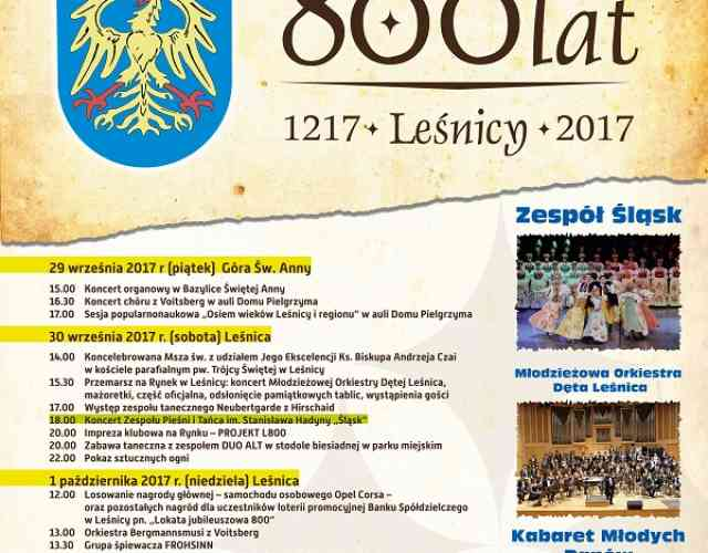 Jubileusz 800-lecia Leśnicy